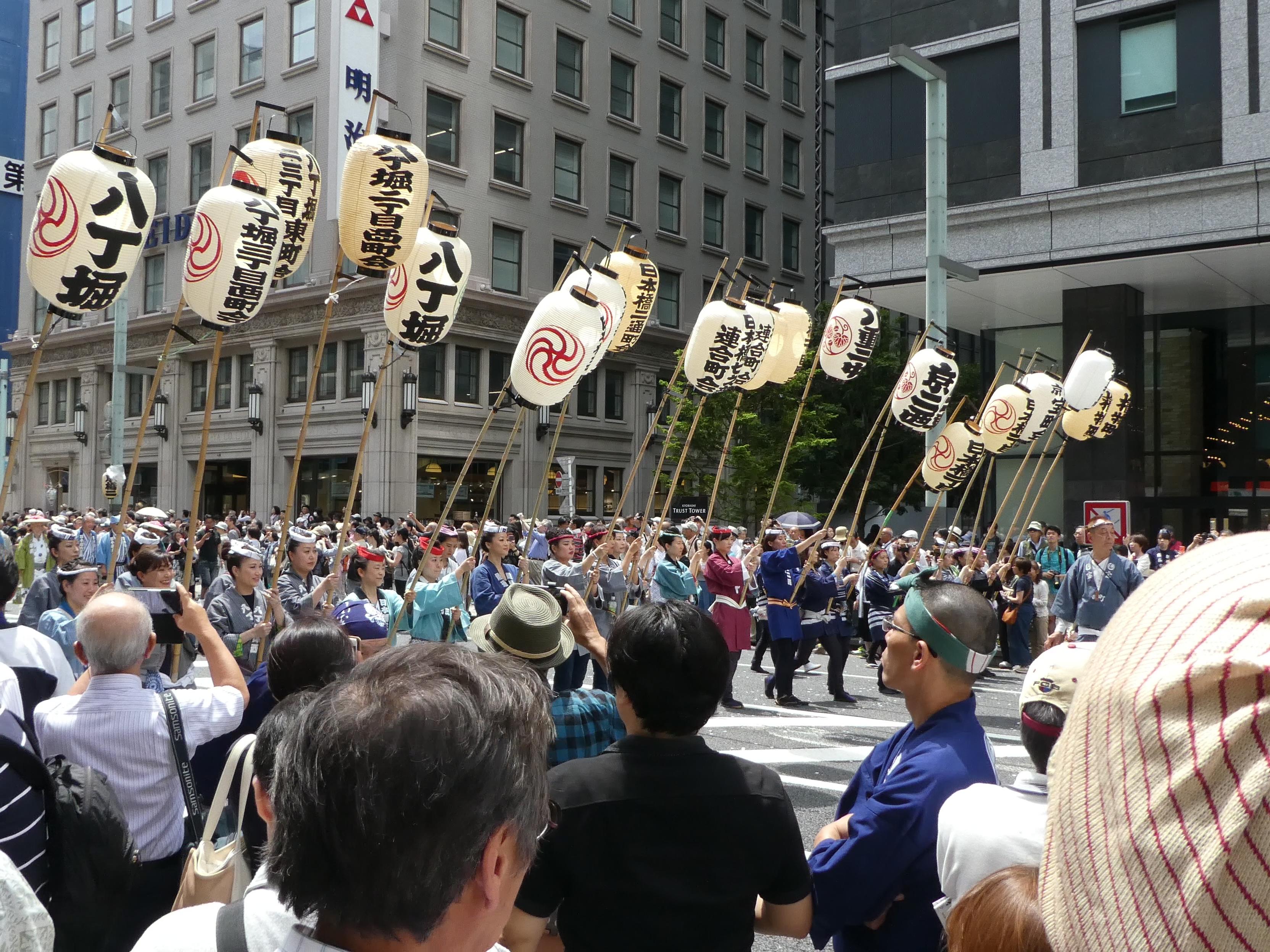 東京都千代田区永田町の「日枝神社」の山王祭で『下町連合渡御』を観ました。
