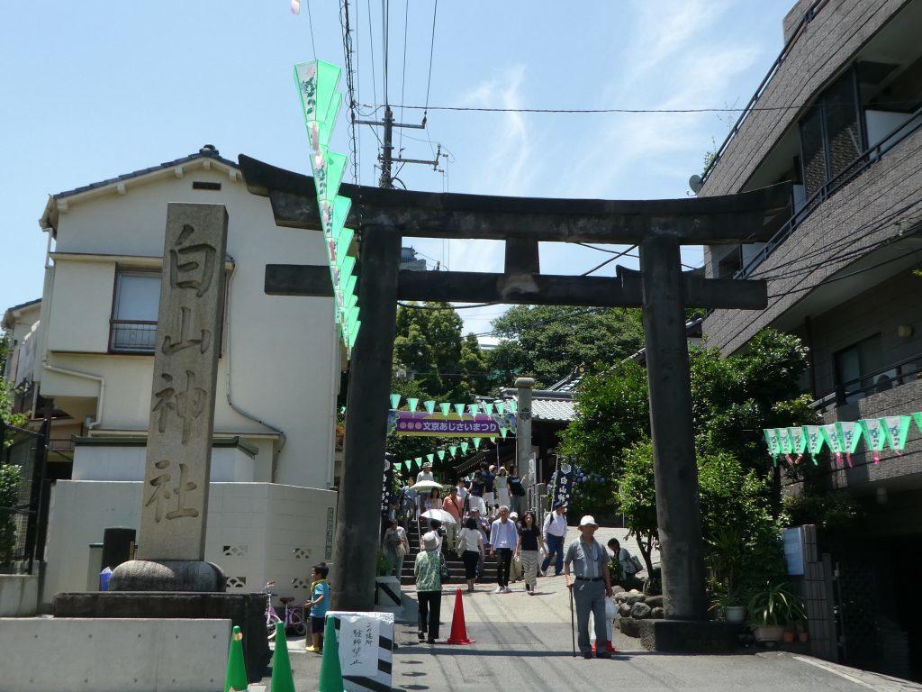 東京都文京区白山の『白山神社』で2016年「文京あじさい祭り」と御朱印をいただきました。