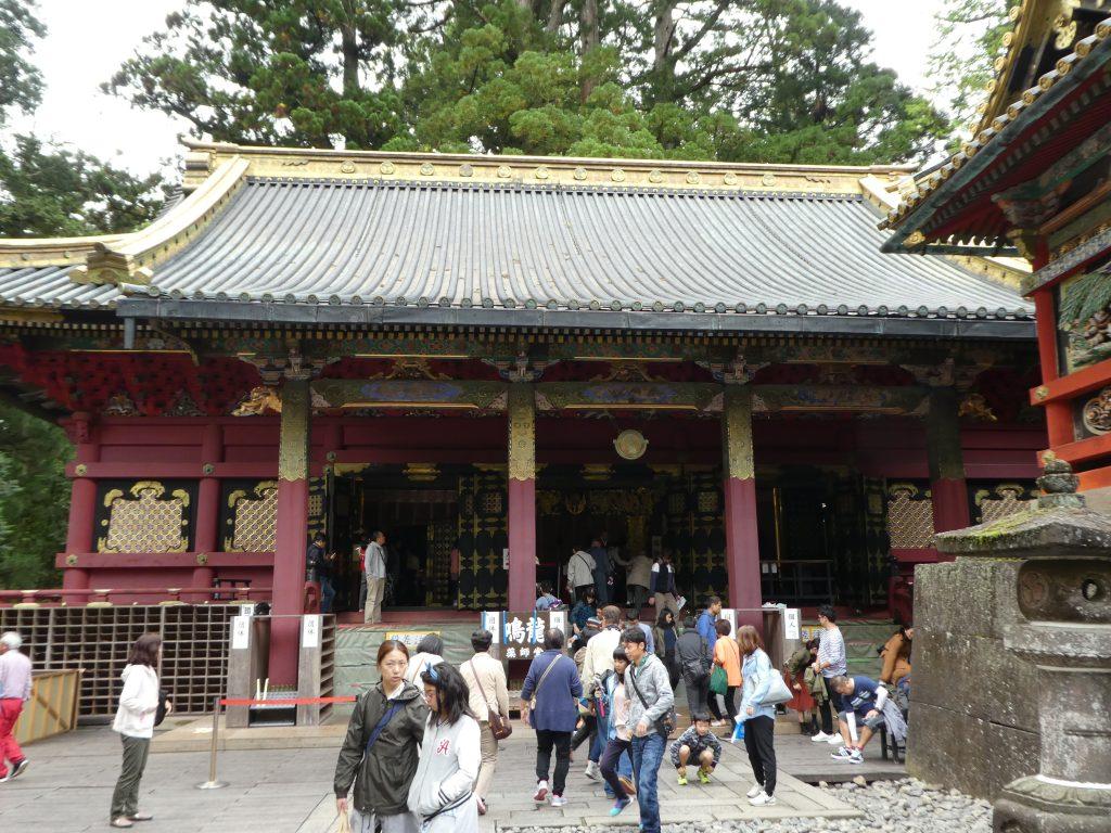 栃木県日光市の「日光東照宮」の「薬師堂」で『鳴龍』の御朱印をいただきました。