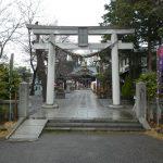 埼玉県川口市青木の『鎮守氷川神社』で1月15日から3月まで限定の御朱印をいただきました。
