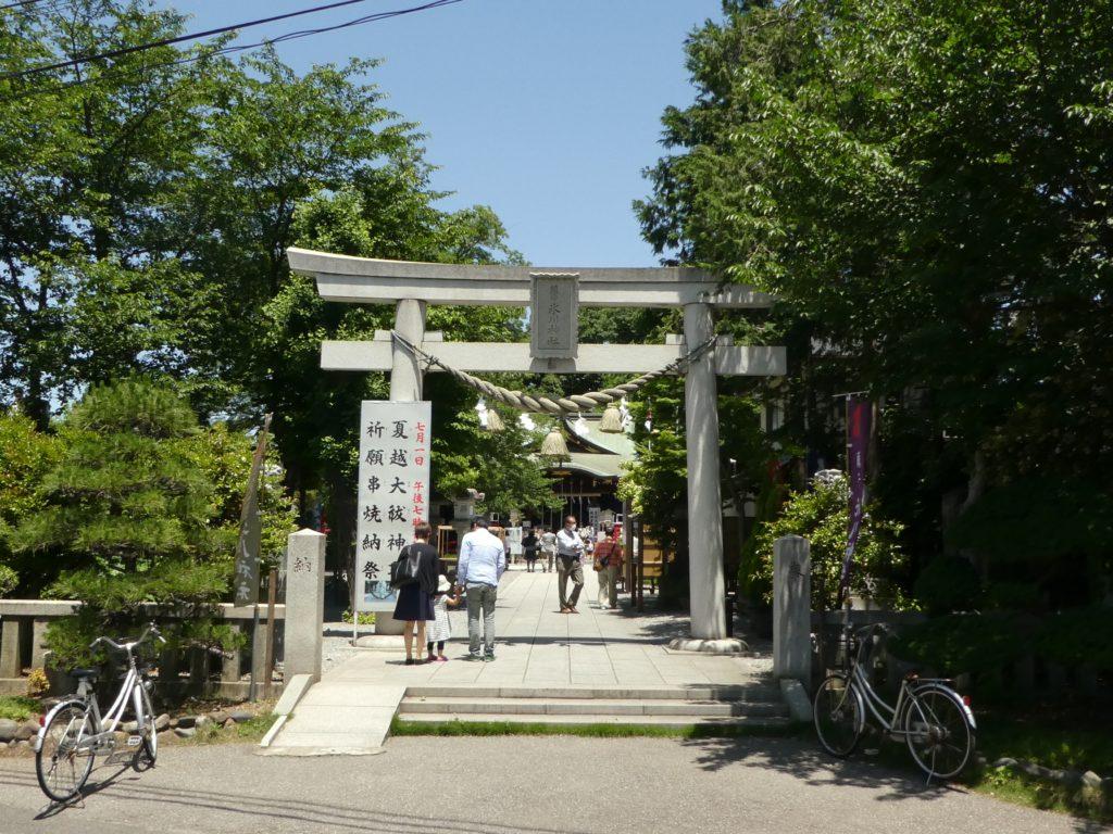 埼玉県川口市青木の『鎮守氷川神社』で4月から6月まで限定の御朱印をいただきました。