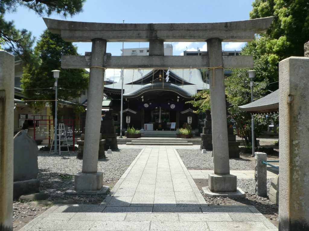 東京都大田区大森北の『磐井神社』で7月限定の御朱印をいただきました。