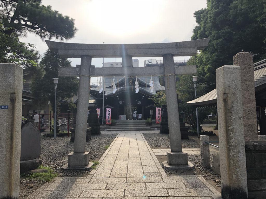 東京都大田区大森北の『磐井神社』で毎月1日・15日だけの月詣り限定の御朱印をいただきました。